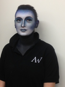 Blue Night Air Brush Makeup
